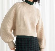 """""""& Other Stories"""" Cropped Wool Blend Sweater Beige"""