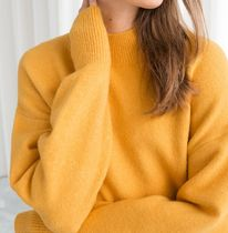 """""""& Other Stories"""" Mock Neck Cropped Sweater Yellow"""