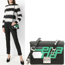 PR1268 LOGO PRINT ELEKTRA SHOULDER BAG