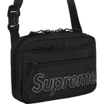 国内正規 18AW Supreme Shoulder Bag Black ショルダー 黒