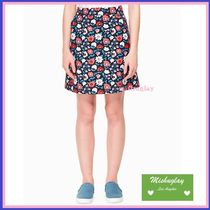 【kate spade】SALE★鮮やかデイジー柄♪ jacquard a-line skirt