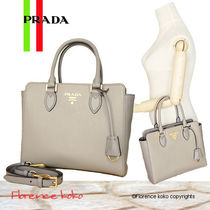 訳あり特価 PRADA☆Saffiano+Soft Calf 2Wayバッグ 1BA113 2BHD