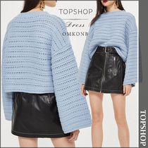 【国内発送・関税込】TOPSHOP★Cropped Wide Sleeve Jumper