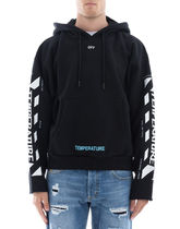 OFF WHITE Black Cotton Hoodie