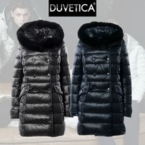 Duvetica efiradue / navy blue / black / ファーダウン