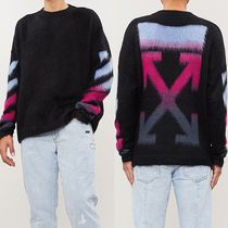 OFF WHITE BRUSHED MOHAIR BLACK MULTICOLOR