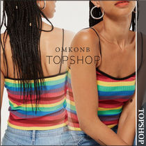 【国内発送・関税込】TOPSHOP★Rainbow Striped Camisole Top