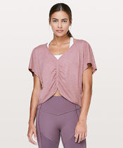 Cruise The Circuits Short Sleeve*ギャザー+フェミニン*Mauve