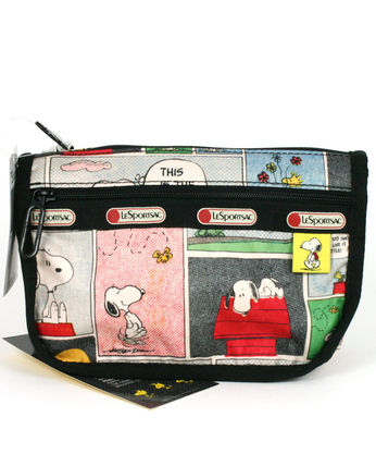 LeSportsac PEANUTS SNOOPY PATCHWORK TRAVEL COSME 7315-P687