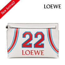 18/19AW秋冬♪関税込 LOEWE T Pouch 22 2Wayクラッチ,White/Red