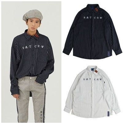 ROMANTIC CROWN シャツ 日本未入荷ROMANTIC CROWNのPin Stripe Shirt 全2色
