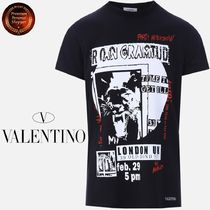 ∮VALENTINO∮Party AftershowプリントcottonTシャツ 関税送料込