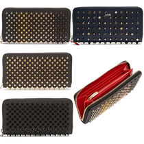 VIPセール関税込【Christain Louboutin】Studded leather wallet