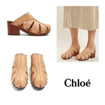 【Chloe】Quinty leather clogs