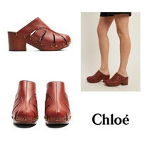 【Chloe】Quinty leather clogs 2437