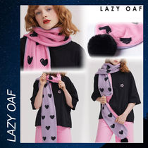Lazy Oaf Black Hearts Pom Pom Scarf マフラー スカーフ ハート