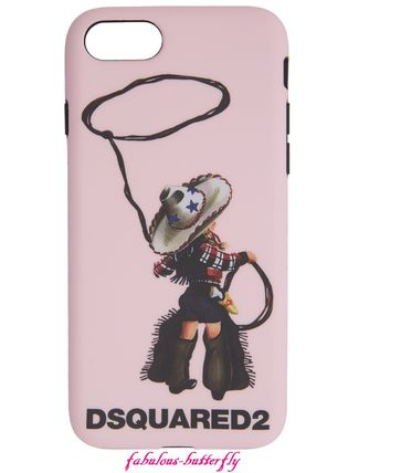 D SQUARED2 スマホケース・テックアクセサリー 国内発送 D SQUARED2 iPhone6/6s/7/8ケース カウボーイ ピンク