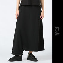 Y-3(ワイスリー) スカート 直営アウトレット【Y-3】3-STRIPES TRACK SKIRT/ CF1522 BLACK