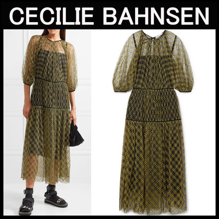 CECILIE BAHNSEN〓Aia チュール ミディアムドレス