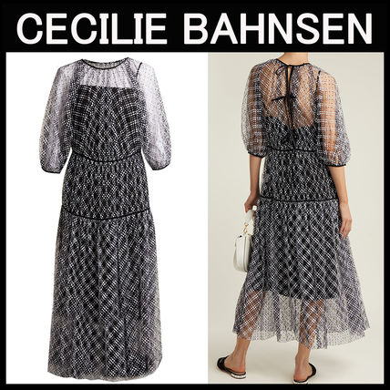CECILIE BAHNSEN〓Aia パフスリーブ  チュールドレス