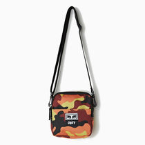 OBEY DROP OUT TRAVELER BAG ORANGE FIELD CAMO
