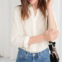 """""""& Other Stories"""" Silk Shirt Off-White"""