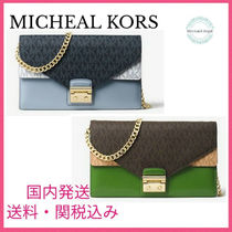 MICHAEL KORS Sloan Logo and Leather Chain Wallet 国内発送