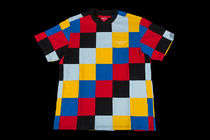 FW18 SUPREME PATCHWORK PIQUE TEE YELLOW BLUE RED 送料無料