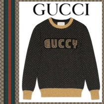 GUCCI 18AW Haut en maille Guccy ニット ブラック