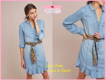 最安値*関税送料込【Anthro】Pilcro Belted Chambray Shirtdress