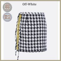 2018-19AW Off-White houndstooth wool miniskirt