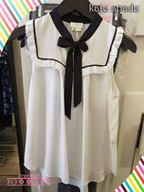 上品な胸元リボンが素敵kate spade★  OUT WEST TIE NECK SHELL