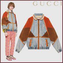 GUCCI(グッチ) Giacca in denim con patch SF Giants TM