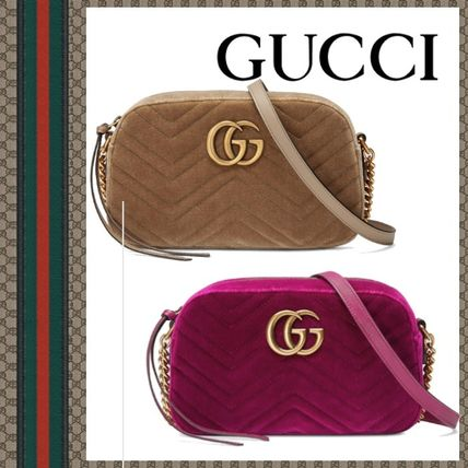 fff143a8618d GUCCI ショルダーバッグ・ポシェット GUCCI 18AW Sac a epaule GG Marmont en velours petite  taille ...