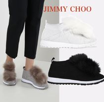 【Jimmy Choo】Norway knit sneakers with pompoms 完売必至!