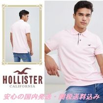 Hollister solid core polo seagull logo slim fit in light pin