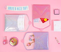 Bentoy(ベントイ) ポーチ [Bentoy]ベントイ Heart square pouch Pink/Purple/Silver