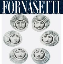 イタリア買付*FORNASETTI glass cup set with logo 国内発送