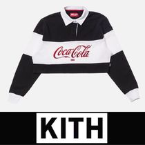 KITH NYC(キスニューヨークシティ) ポロシャツ 【入手困難】KITH WOMEN X COCA-COLA CROPPED L/S RUGBY
