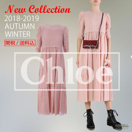 new style 1d599 ab626 2018-19秋冬SEE BY CHLOE long dress with flounced skirt