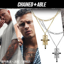Chained&Able★CRUCIFIX BUNCH FIGARO 2連ネックレス*クーポン付