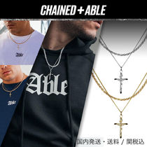 Chained&Able★MINI CRUCIFIX ROPE 2連ネックレス★クーポン付き