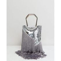 ★ASOS★ DESIGN sequin fringe grab clutch bag