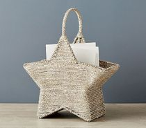 *PotteryBarn*Silver Rope Star Shaped Storage/星型収納BOX