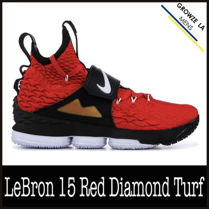 newest ddecf 97a7d ★【NIKE】追跡発送 ナイキ LeBron 15 Red Diamond Turf