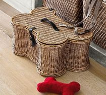 *PotteryBarn*DOGGIE TOY BASKET/おもちゃ入れバスケットSmall