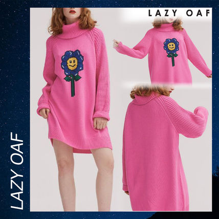 cf0028a705 LAZY OAF ニット・セーター LAZY OAF Flower Power Sweater Dress ニット セーター ピンク ...