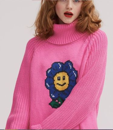 d3fa2d0c20 ... LAZY OAF ニット・セーター LAZY OAF Flower Power Sweater Dress ニット セーター ピンク (4  ...