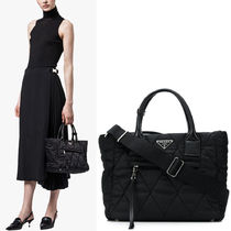 PR1367 QUILTED NYLON TOTE BAG SMALL