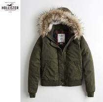 ★送料込★Hollister★Flannel-Lined Twill Bomber Jacket★